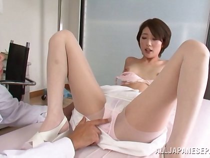 Makoto Yuuki gets fucked by hard doctor's dick in the hospital