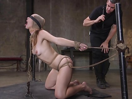 Anal domination in scenes of BDSM for Ella Nova