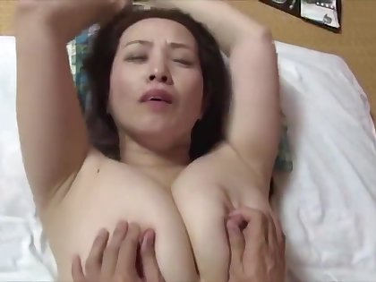 japanese sizzling big boobs step mom