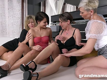 Lewd of age whores show slutty chicks how relating to use strapon for nice drilling