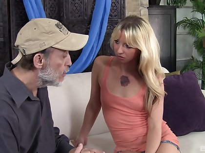 Sexy blonde wife Megan Sweet gets fucked hard by an elder neighbor